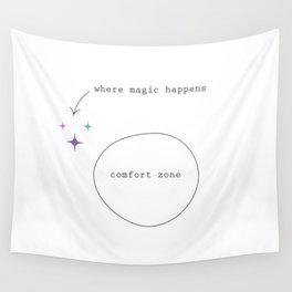 Get Out Of Your Comfort Zone Wall Tapestry