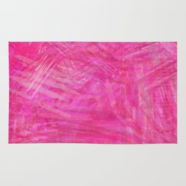 Abstract pink lines look Rug