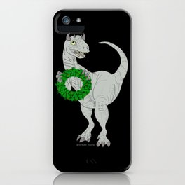 Dino made a Wreath iPhone Case