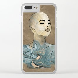 SeaBorn Gold Struck #1 Clear iPhone Case