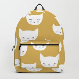 Sweet sleepy kitty cats kawaii baby animals kids pattern Backpack