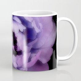 Indulgent Darkness, Violet Peony Coffee Mug
