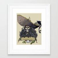 monkey island Framed Art Prints featuring Le Chuck from Monkey Island by Sara E. Snodgrass