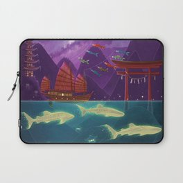 Junk Ship and Glow Sharks Laptop Sleeve