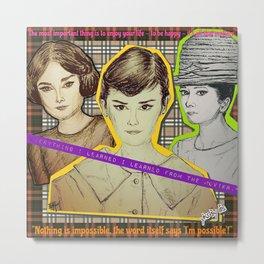 (Icon - Audrey Hepburn) - yks by ofs珊 Metal Print