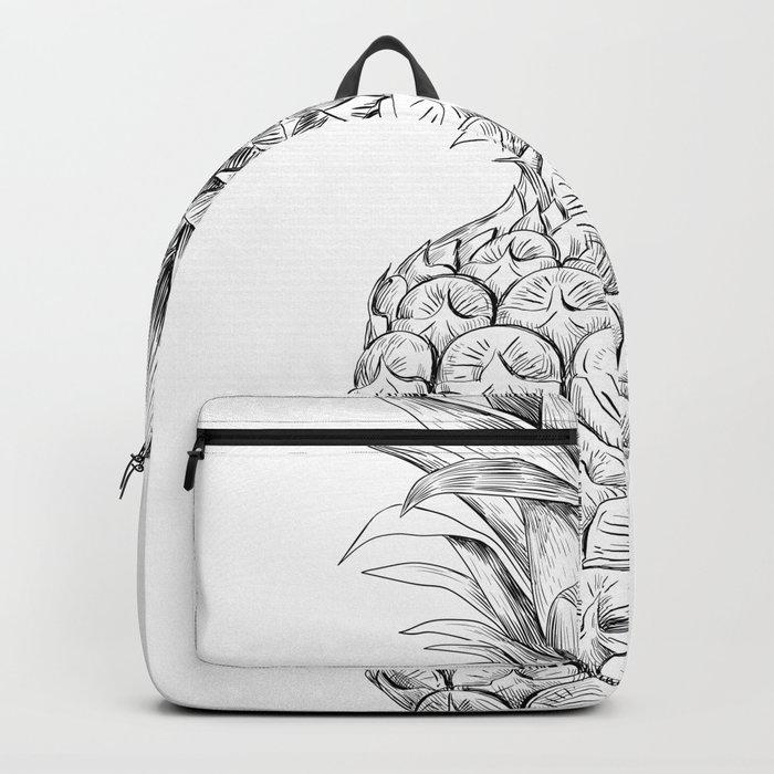 Pineapple, tropical fruit illustration Backpack