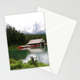 Boat House On Maligne Lake Stationery Cards