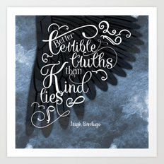 Six of Crows book quote design Art Print