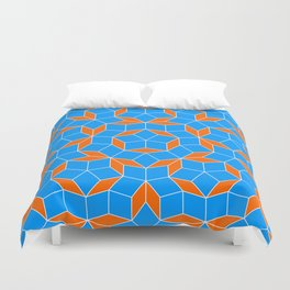Penrose Tiling Pattern Duvet Cover