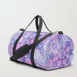 Daydream Mandala in Purple, Blue and Pink Duffle Bag