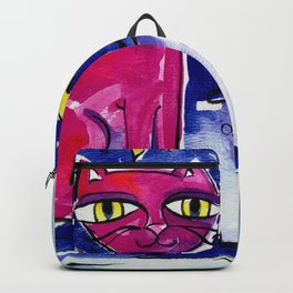 Angel Kitty by Kathy Morton Stanion Backpack