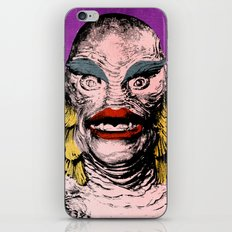 The Gorgeous Gill Man from the Black Lagoon iPhone & iPod Skin