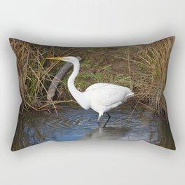 Just Right (Great Egret) Rectangular Pillow