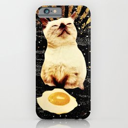 Catlightenment - Sunny Side Up in Space iPhone Case