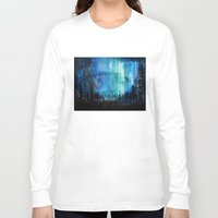 northern lights Long Sleeve T-shirts featuring Northern Lights by VivianLohArts