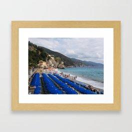 Monterosso Blues Framed Art Print