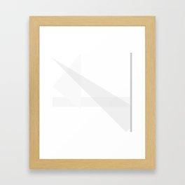 Triangles No1 Framed Art Print
