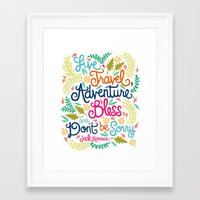 kerouac Framed Art Prints featuring Jack Kerouac Quote Illustration.  by Unraveled Design