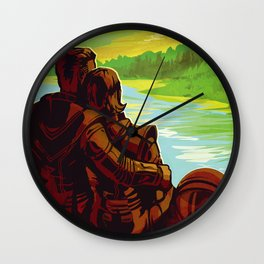 Earth - Your Oasis in Space Wall Clock