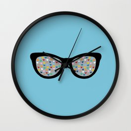 Heart Eyes Wall Clock