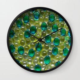 Aqua Droplets Wall Clock