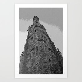 And Here Is The Steeple....... Art Print