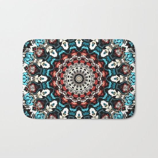 Abstract Shapes Mandala Bath Mat