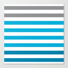Stripes Gradient - Blue Canvas Print