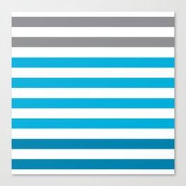 Stripes Gradient - Blue Canvas Print
