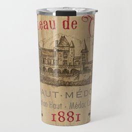 Barrel Wine Label 1 Travel Mug