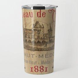 Barrel Wine Label 1 Travel Mug