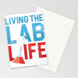 Living The Lab Life Medical Laboratory Lab Technician Gift  Stationery Cards