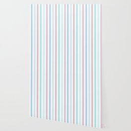Striped pattern in pastel colours 1 Wallpaper