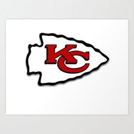 Kansas Chiefs Art Print