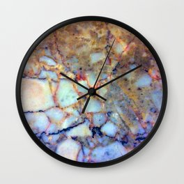 marble effect 007 (blue) Wall Clock