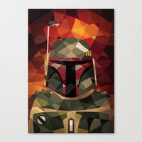 boba fett Canvas Prints featuring Boba Fett by Eric Dufresne