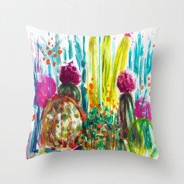 Cabana Plants Throw Pillow