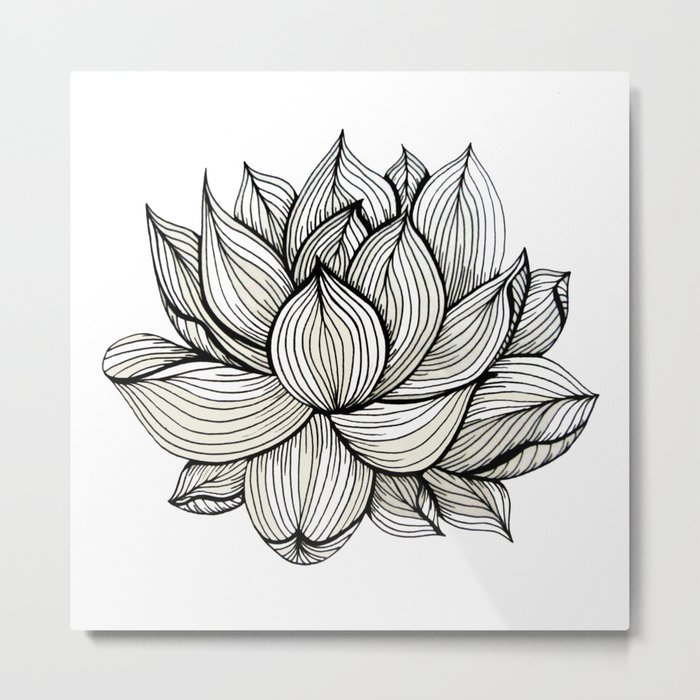 Floral Black And Grey Nature Tattoo: Lotus Flower, Black And White, Nature, Organic Design