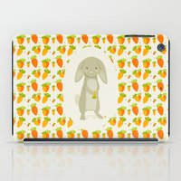 rabbit iPad Cases featuring Rabbit by Jane Mathieu