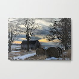Sunset in Centralia Metal Print