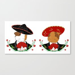 Guinea pigs with sombreros Canvas Print