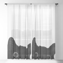Here's lookin' at mew Sheer Curtain