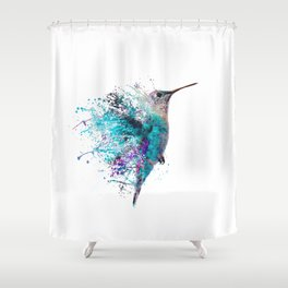 HUMMING BIRD SPLASH Shower Curtain