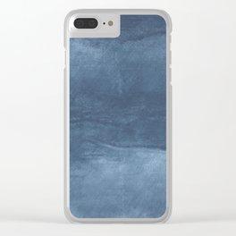 Dark blue cloud Clear iPhone Case