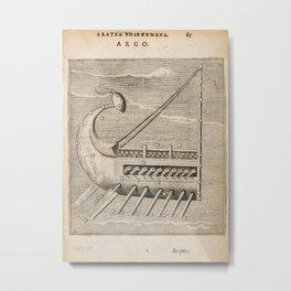Hugo de Groot's Syntagma Arateorum 1600 - 30 Argo Navis Metal Print