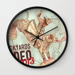 Cyber Rodeo 2 Wall Clock