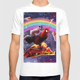 Space Pug Riding Chicken Unicorn - Taco & Burrito T-shirt