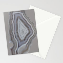 Neutral tones agate Stationery Cards