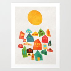 Looking at the same sun Art Print