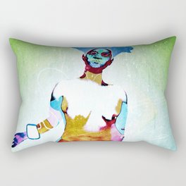 """Don't Listen to crappy music"" by Nacho dung. Rectangular Pillow"